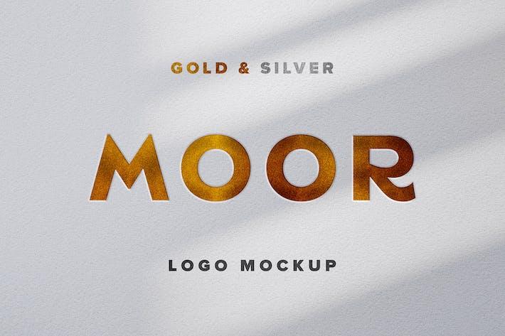 Thumbnail for Gold & Silver Logo Mockup