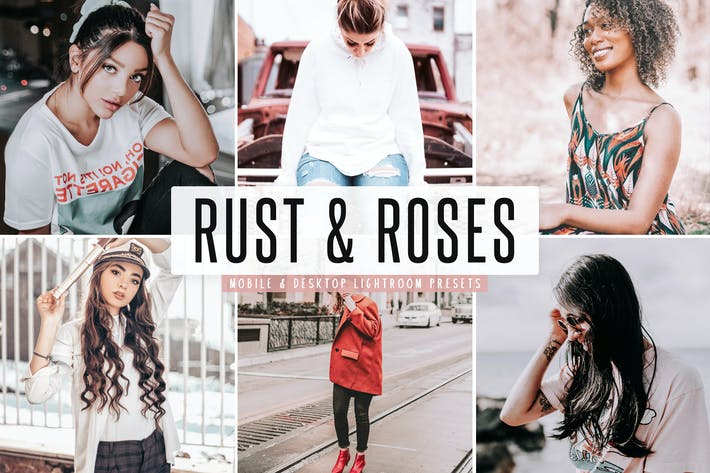 Thumbnail for Rust & Roses Mobile & Desktop Lightroom Presets