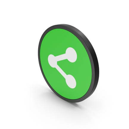 Icon Share Button Green