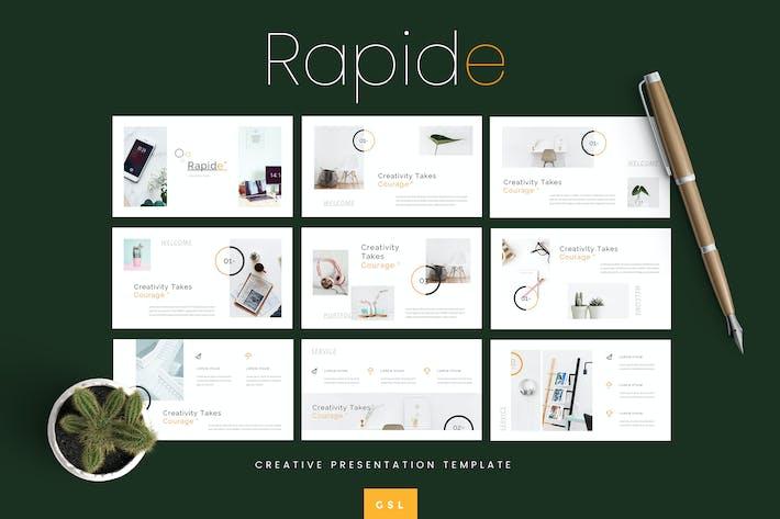 Thumbnail for Rapide - Vorlage für kreative Google Präsentationen