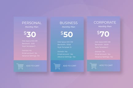 Pricing Table Vol 02 - Page