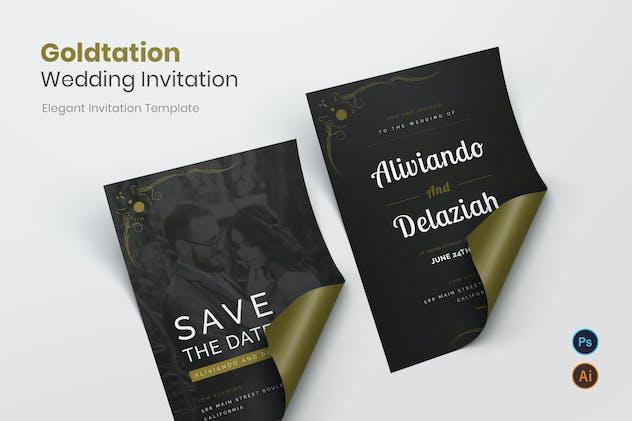 Goldtation Wedding Invitation