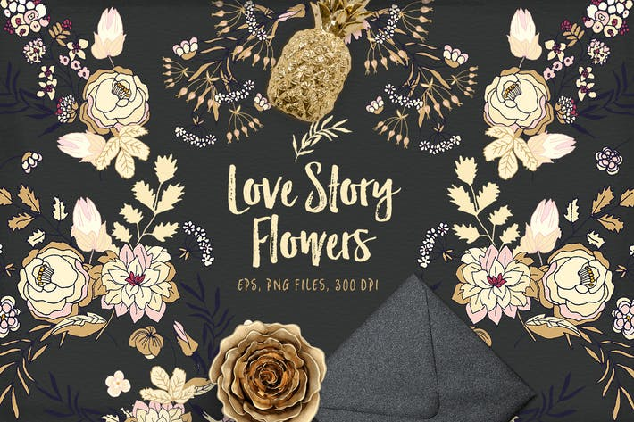 Cover Image For Love Story Flowers