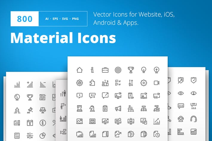 Cover Image For Material Design Icons
