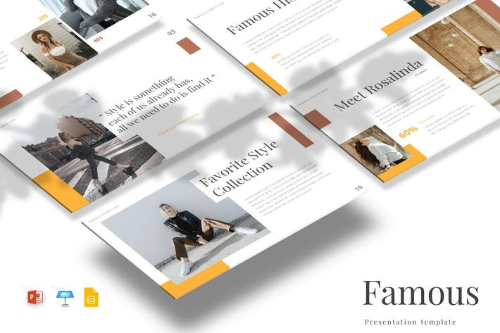 Thumbnail for Famous - Powerpoint/Google Slides/Keynote Template
