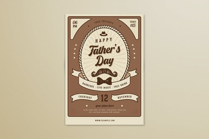 Thumbnail for Vintage Fathers Day Flyer