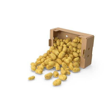Caja de patatas derramada