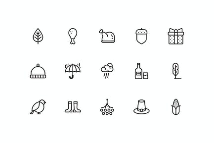 15 Herbst-Icons
