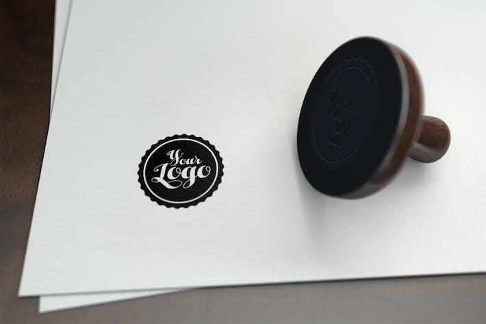 Thumbnail for Stamp Logo Mockup 001