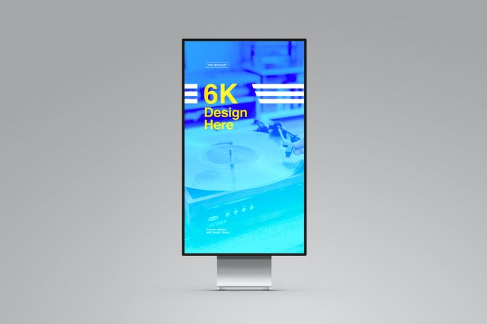 Thumbnail for Monitor-Mockup - Hochformat Display XDR