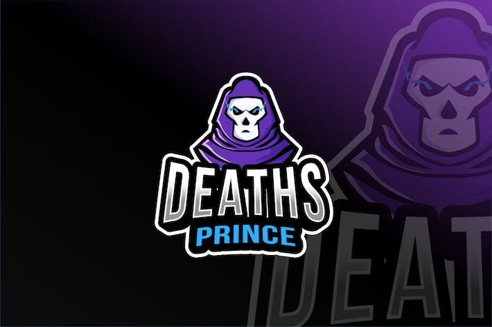 Thumbnail for Deaths Prince Esport Logo Template
