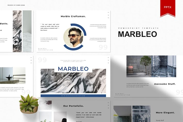 Thumbnail for Marbleo | Powerpoint Template