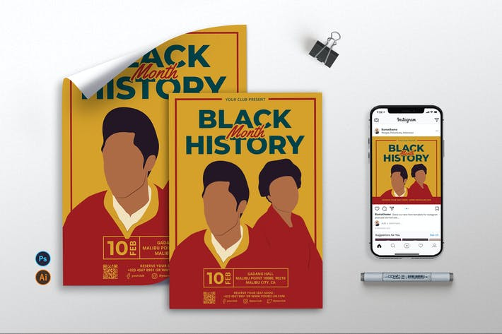 Black History Month vol.3 - Flyer, Poster & IG RB