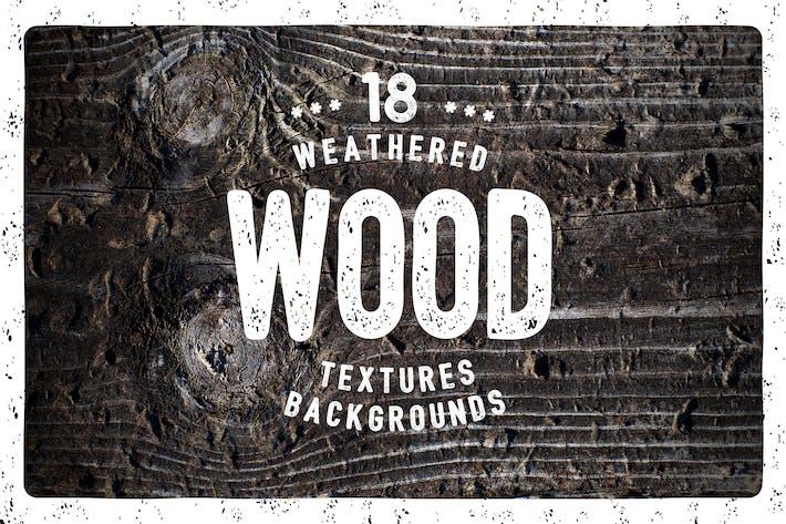 18 Verwitterte Holztexturen /Hintergründe