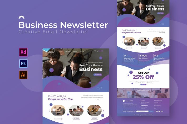 Thumbnail for Business | Newsletter Template