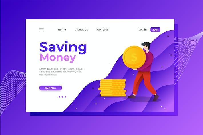 Thumbnail for Kosteneinsparung Zielseite Illustration