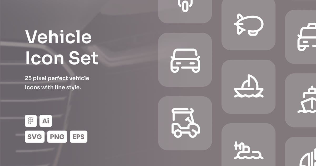 Download Vehicle Dashed Line Icon Set by mhudaaa