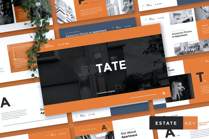 Thumbnail for ESTATE - Real Estate & Apartment Keynote Template