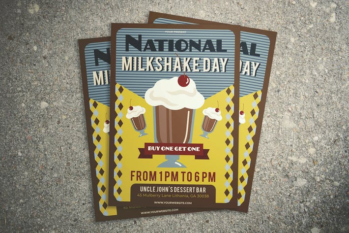 Thumbnail for National Milkshake Day Flyer