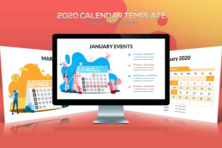 Thumbnail for 2020 Calendar Keynote Template