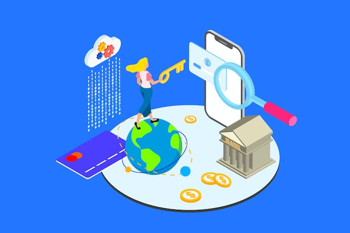 Thumbnail for Financial Access Isometric Illustration - TU