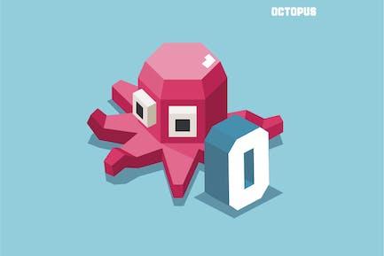 O für Octopus. Tier-Alphabet