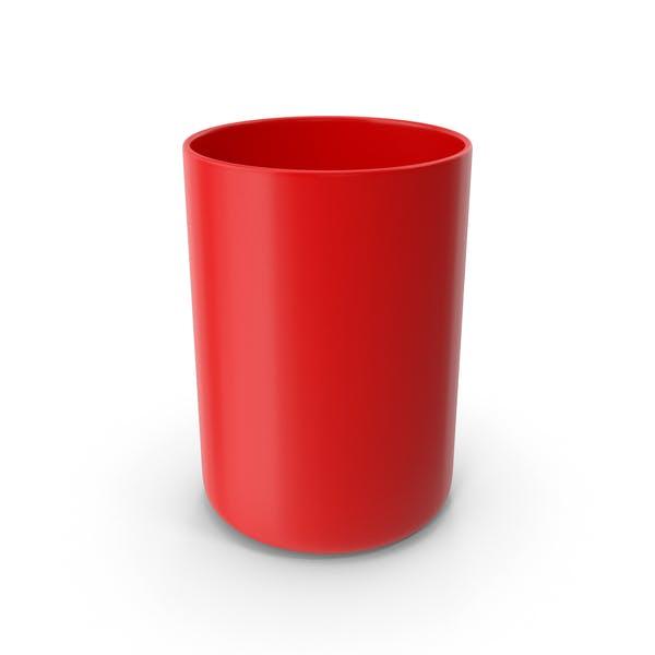 Чашка для ванной комнаты Красный