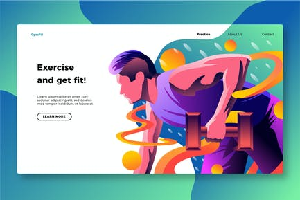Gym Übung - Banner & Landing Page
