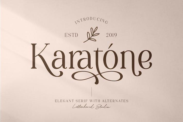 Karatone - Elegante Con serifa
