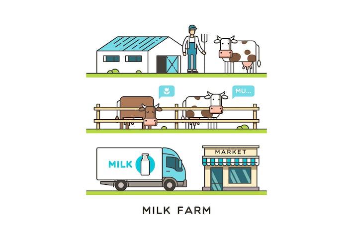 Thumbnail for Milchfarm und Lieferung Milchprodukt