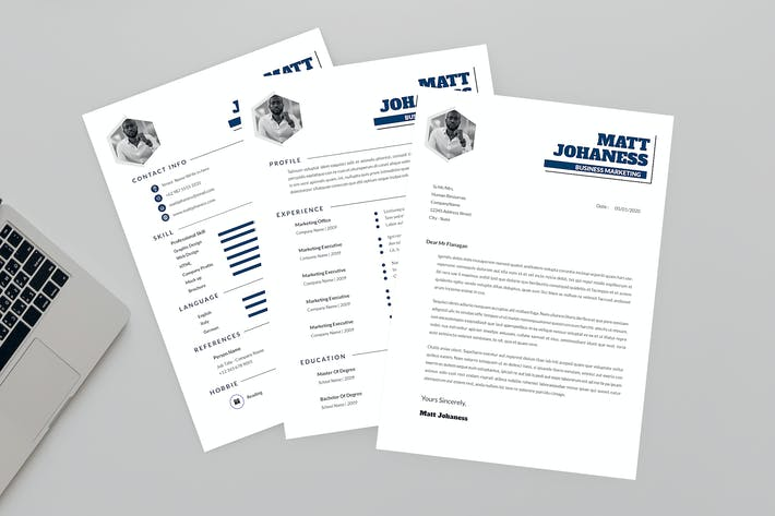 Thumbnail for Business Marketing Resume Designer