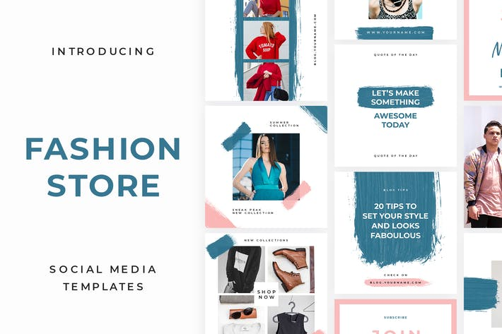 Thumbnail for Fashion Store Social Media Template