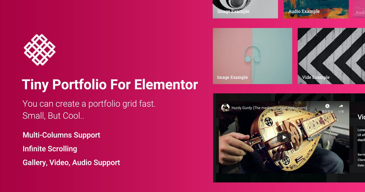Download Tiny Portfolio Widget For Elementor by ThemeVan