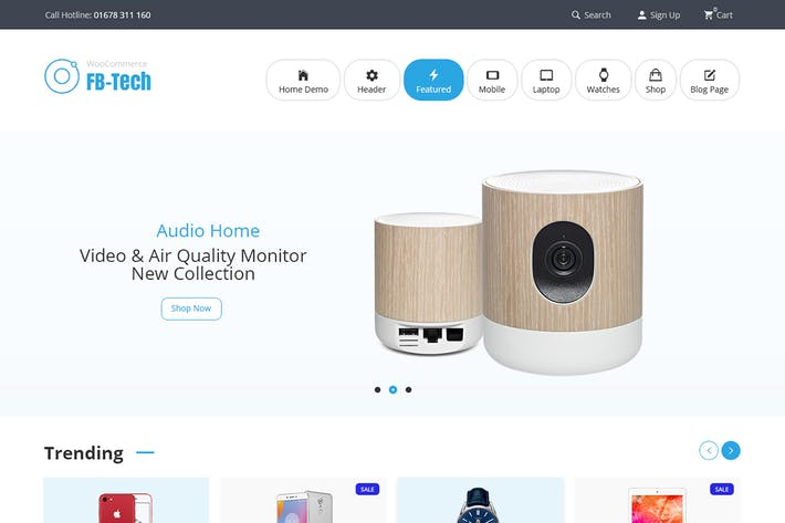 Thumbnail for FB-Tech - Digital RTL WooCommerce Theme