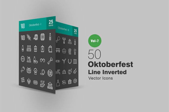Thumbnail for 50 Oktoberfest Line Inverted Icons