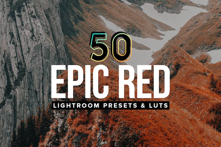 Thumbnail for 50 Epic Red Lightroom Presets and LUTs