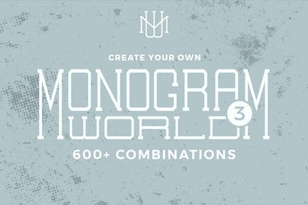 Monogram World 3 l Monogram Font