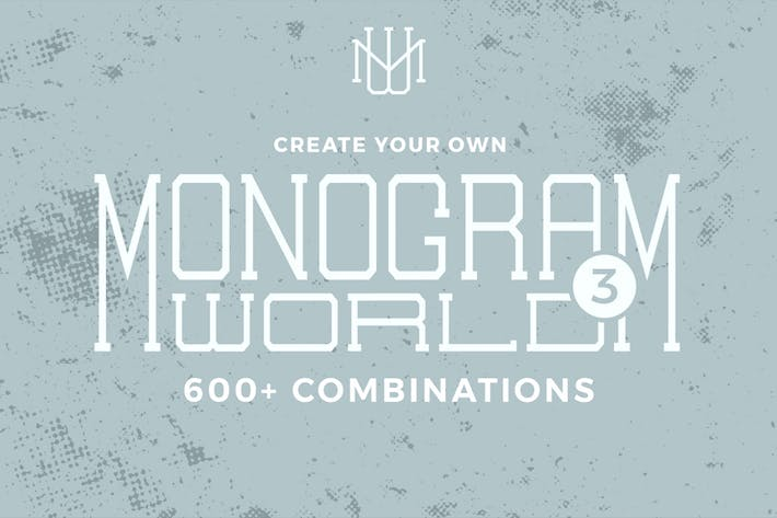 Thumbnail for Monogram World 3 l Monogram Font