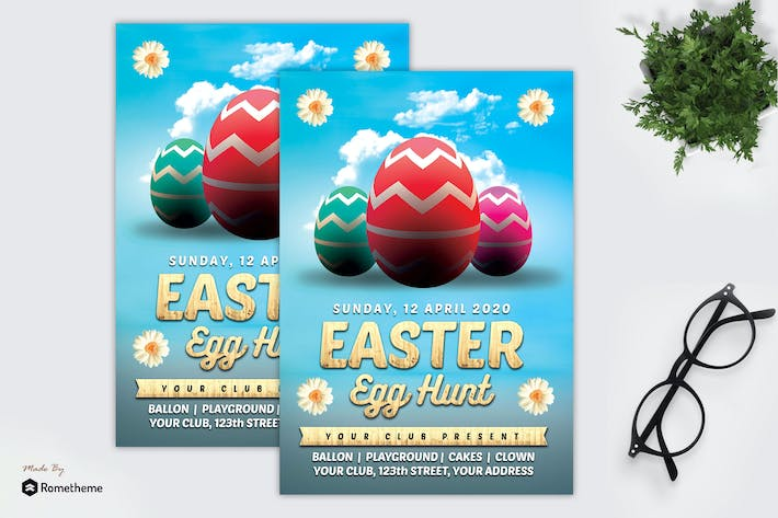 Thumbnail for Kid Easter Egg Hunt - Flyer MR