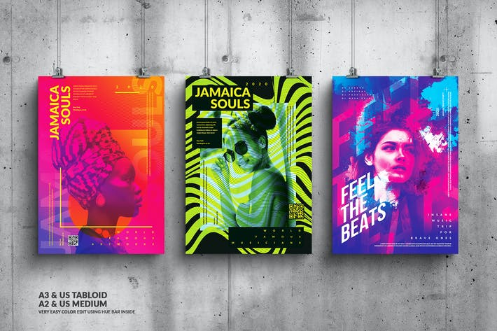 Cover Image For Music & Art Events Big Posters Design Bundle
