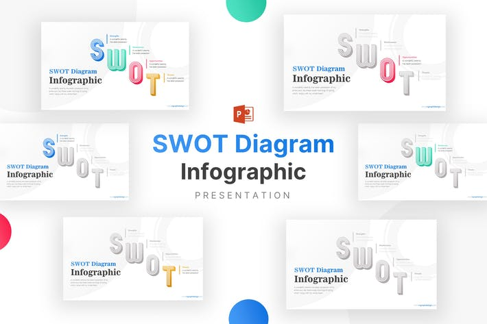 Colorful SWOT for Business Analysis Infographic