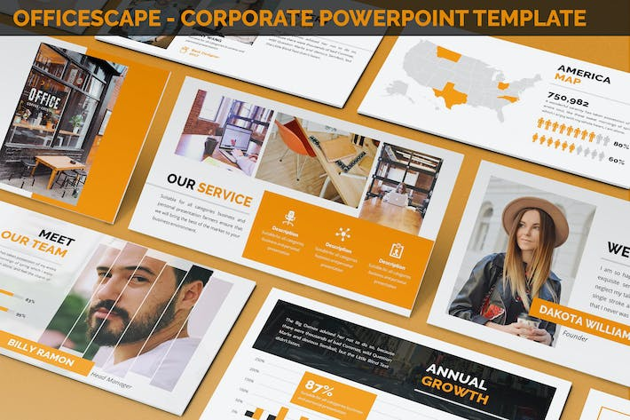Thumbnail for Officescape - Corporate Powerpoint Template