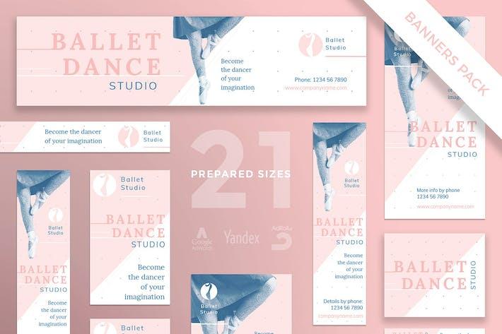 Thumbnail for Modèle de bannière Dance Studio