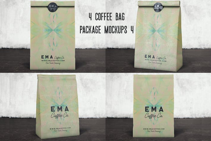 Thumbnail for 4 Coffee Bag Package Mockups 4
