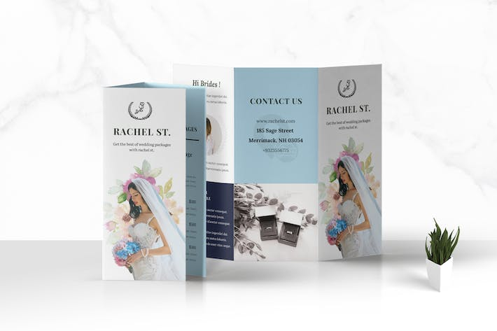 Thumbnail for Trifold Weddings Business Brochure