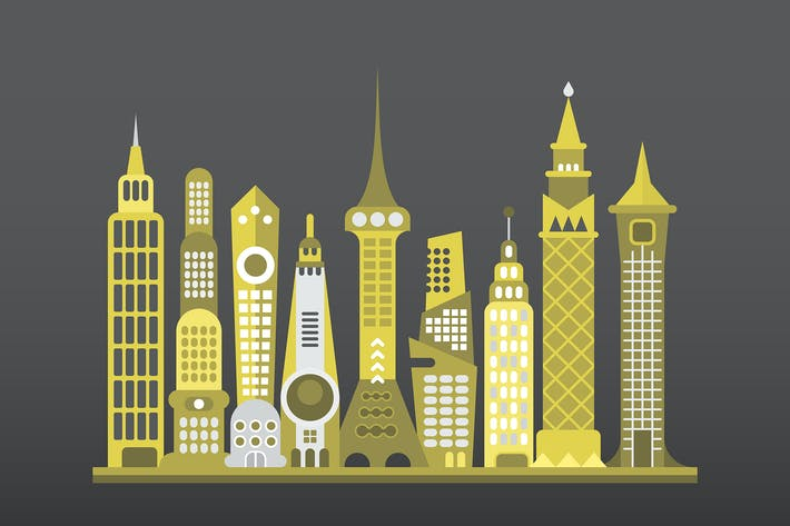 Thumbnail for Modern Cityscape Vector Illustration