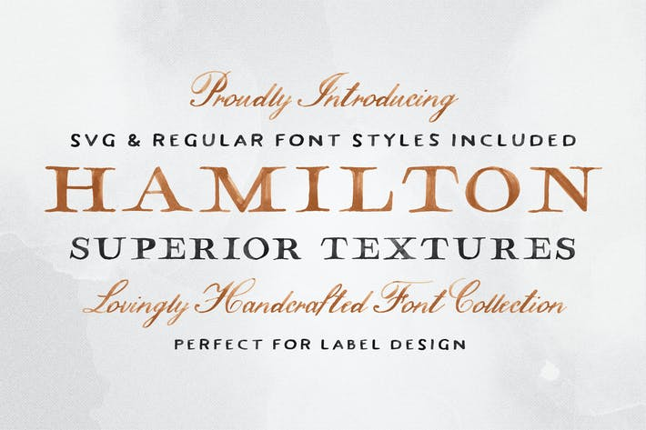 Thumbnail for Hamilton SVG Font Collection