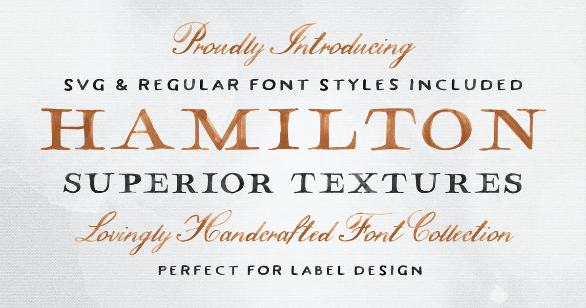 Download Hamilton SVG Font Collection by tomchalkys