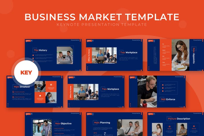 Thumbnail for Business Market - Keynote Template