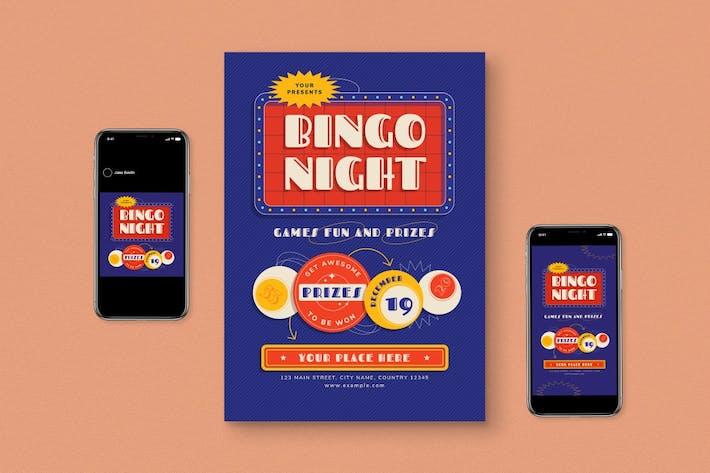 Thumbnail for Bingo Night Flyer Set